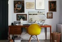 Work Space / decor, decoration, home office, office, desk, work spaces, creativity