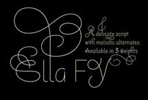 Fonts / by Lisa Butler // Elembee