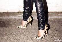 Leather&Black&Leopard / by Irina Roberts