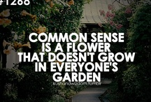 Simple common sense i learned from my mother