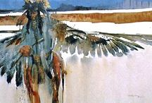 Native Americans on canvas