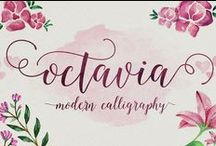 Type ❤ / Free and commercial fonts. My favorite calligraphy fonts, brushed fonts and hand drawn fonts.