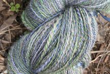 Hand Spun By Mosaic Magpie / Yarn hand spun by me!