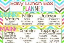 School Lunch Box Ideas / Ideas for things to put in children's lunch boxes for school. School lunch box ideas. School lunch ideas.