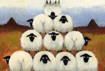 Art - Baah Baah / Sheep lambs alpaca / by Rusty Tricycle