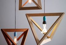 modern pendant and desk lighting / by Janell