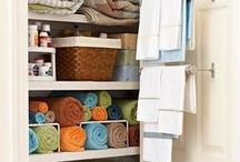 gettin' organized / Cool ideas for maintaining cleanliness and organized ways of doing things all around the house!