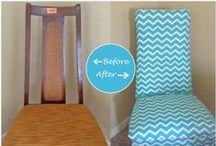 DIY Chair Makeovers / Do your dining room chairs need a makeover?   Give some of these ideas a try! / by Decor Spark