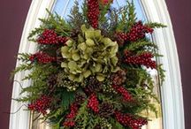 Decorating with Wreaths / A wreath on the front door makes an immediate statement about the owner.   What statement will you make? / by Decor Spark