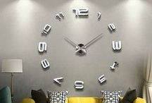 Decorating with Large Wall Clocks / Many designers are now using large clocks in their designs. / by Decor Spark