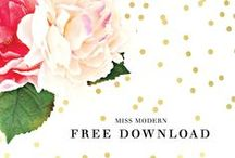 graphic design // free downloads + printables.