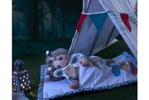 Dreamy doll beds / Sshhh - they're sleeping! Cozy little beds where dolls can snooze comfortably.