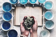 Tea cups and plates photography inspiration / Pretty tea cups photography
