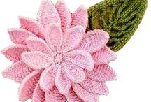 ❁ H❀✿KeD • PεтAʟs ❁ / Crochet Flower, Crochet Leaves, Crochet Flower motif, ..... patterns and ideas..... Free Crochet Pattern