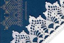 ▣ LiViηɢ • Ѻη • TʜE • Ǝdɢe ▣ / Crochet edging  ... patterns and charts