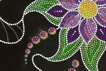 ⦿D•0●T•S⦿ / Dot paintings, Aboriginal dot painting,  Dots.....
