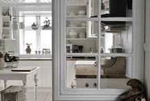 Interior windows, dividers and French doors / by Catherine Carey
