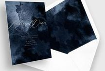 Stationery & Invitations : Jewel Tones & Black