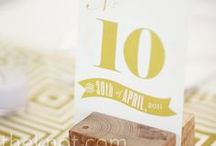 Table Numbers / by Belle'Ham Wedding & Events