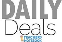 Daily Deals / These deals  are discounted 40% for one day only . Check back everyday to see if there is a deal that interests you! / by Teacher's Notebook