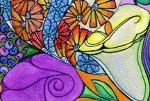 A Doodles-Zentangles-CircleArt / by Sherri Frazier