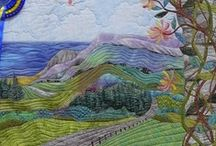 QUILT Scapes / quilts that look like paintings and photographs