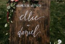 Wedding Signs / Personalised signs are a wedding must! Whether you're welcoming guests, providing instructions or being witty!
