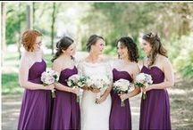 KJP Weddings | Purple Tones / Karyn Johnson Photography wedding featuring purple, plum, lavender, amethyst tones.