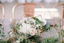 Rose Gold Wedding Inspiration / Rose Gold and Copper Tone Wedding Inspiration