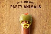 Game Day / Hut-hut, it's party time! Get your game on with Lit'l Smokies Party Animals!