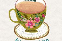 Cartazes sobre Chá / Cartazes e inspirações para amantes do chá e infusões.