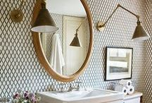 Beautiful Bathrooms / Natural, tiles, wood, splashes of colour and small space... ideas for all sorts of bathrooms.
