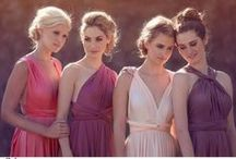 Multi-Way Bridesmaid Dresses / Dresses that can be worn in at least so many different ways to suit different shapes, sizes & occasions!