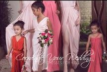 Flower Girls / Bridesmaid dresses and their little counterparts.
