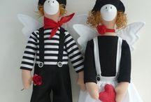 tilda love / dolls puppen lutke babák / by Lilla