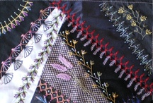 Crazy Quilting Ideas / I just adore Crazy Quilts and I am always looking for examples of stitching that I can put in my ongoing work for my own Crazy Quilt. / by Sharon Cumings