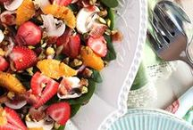 Salad Recipes / Salad recipes from the interwebs that I totally dig! Salads filled with vegetables, fruit, or even piled with chicken or steak. This board is for all you salad lovers out there.
