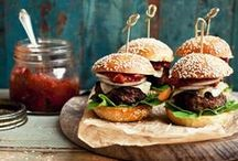 Burger Recipes / Burger recipes from the interwebs that I totally dig! Loaded, stacked high and toppings piled to the ceiling. These pins are sure to satisfy all your Burger cravings!