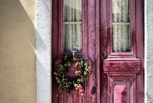 """DOORS / """"I feel very adventurous. There are so many doors to be opened, and I'm not afraid to look behind them.""""  ― Elizabeth Taylor / by Sally Kelly @DrinkingFromMySaucer"""