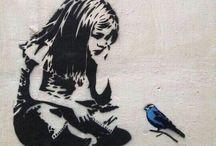 Banksy~ freོebird ༽༨ / Banksy, graffiti