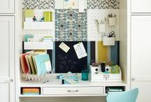 HOME OFFICE / Some decor.  Some organization. / by Sally Kelly @DrinkingFromMySaucer