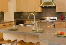 Decorative Concrete: Countertops / Concrete is an interesting material for counter-tops. It is familiar, yet we cast and polish it to an uncommon level of refinement.