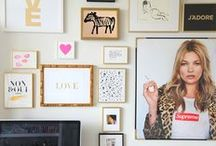 gallery wall inspiration. / by Katie Lynn