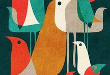 Mod Pigeon / Modern Patterns
