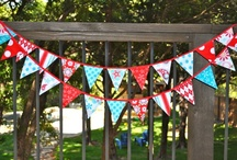 Garlands, bunting, pennants galore / by Monica White