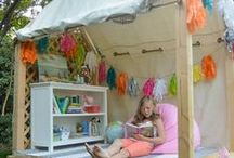 ☆ Cabanes ☆ / Kids play house - teepee and tents - Tipis, tentes et autres cabanes - cardboard house