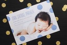 Birth Announcements / Photo birth announcements are a personal way to introduce your brand new baby to the world. Create your custom announcements at Mixbook.com / by Mixbook