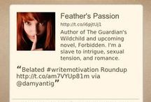 Feather's Blog / What's happening on Feather's chaotic life: Writing, Marketing, Blogging, Reading, Book Reviews, Blog Hops, Giveaways, and connecting with people and life. Whew!