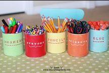 ♠ School : organization ♠ / trucs et astuces pour l'école - rangement - organiser et trier - classroom corners - espaces et coins dans la classe