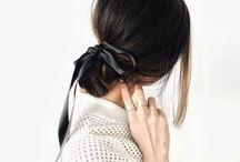 hair + make-up / Hair, nails and make-up.